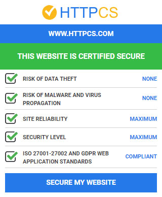 website certified secure