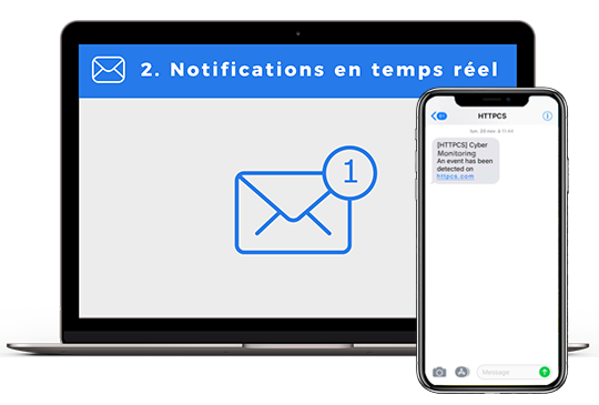 Consultez vos notifications Email et SMS