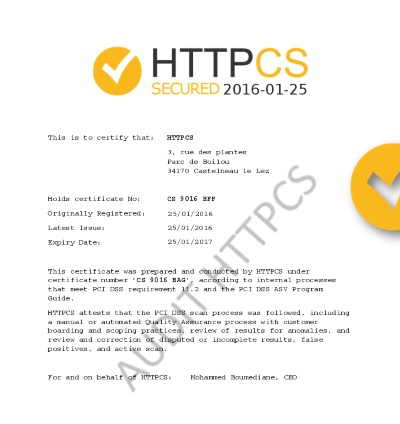 HTTPCS audit certification