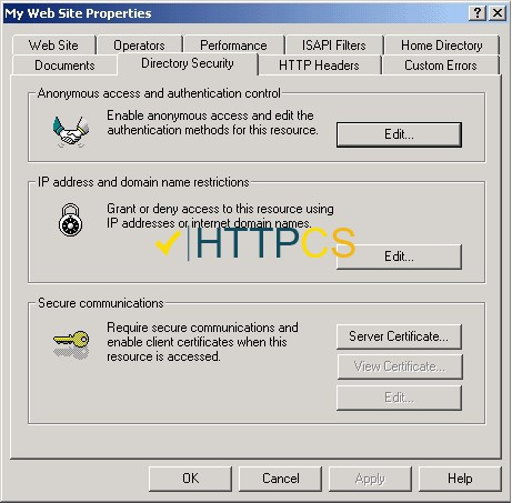 How to install an SSL certificate on Microsoft IIS 5 & 6