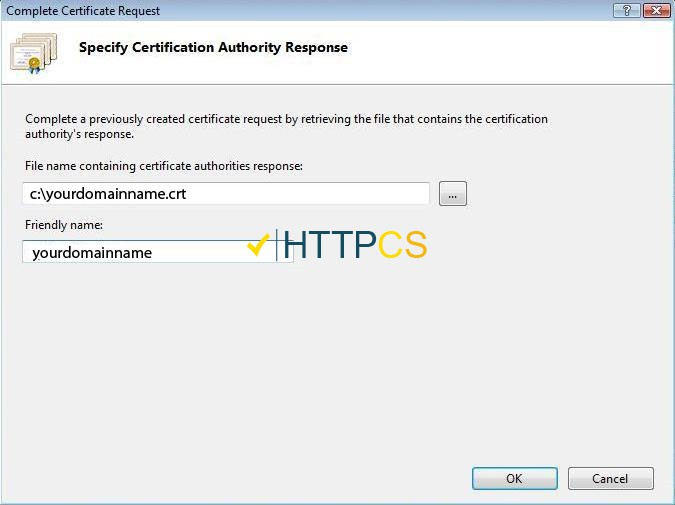 How to install an SSL certificate on Microsoft IIS 7