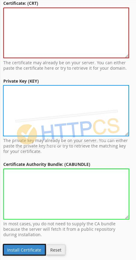 How to install SSL certificate with cPanel