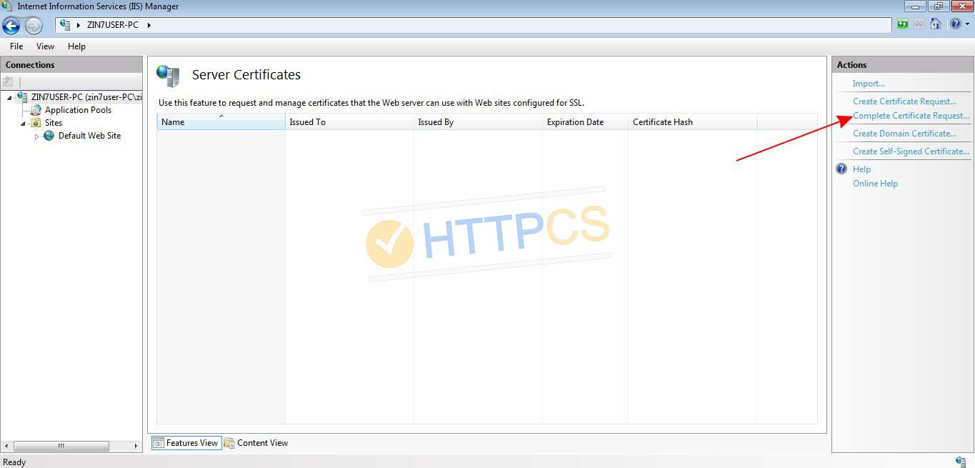 How to install an SSL certificate on Windows IIS 10