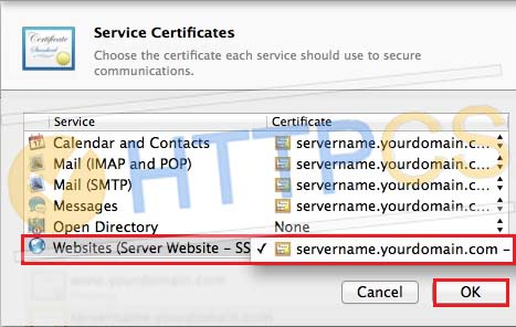 How to install an SSL certificate on OS X Server