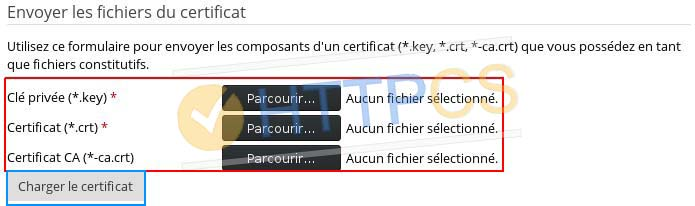 Comment installer un certificat SSL avec Plesk Panel