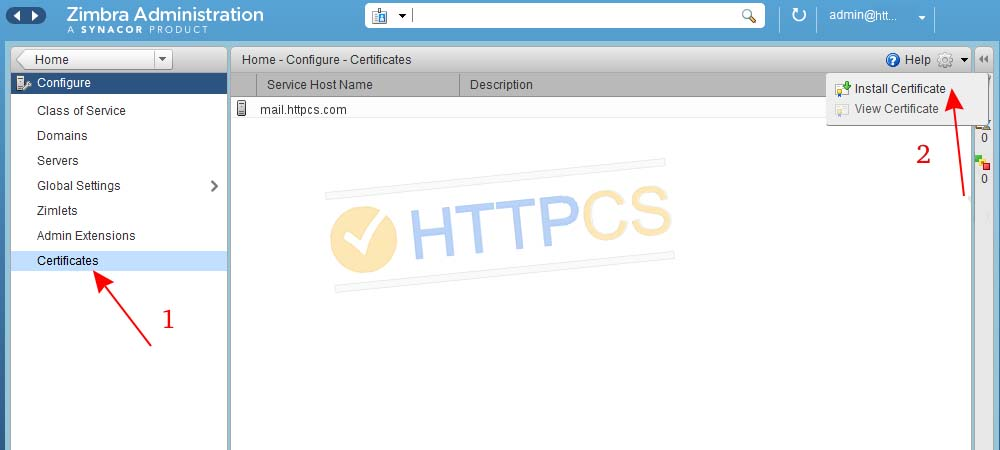 Tuto How To Install An Ssl Certificate On Zimbra