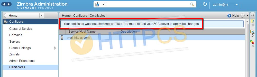 How to install an SSL certificate with Zimbra